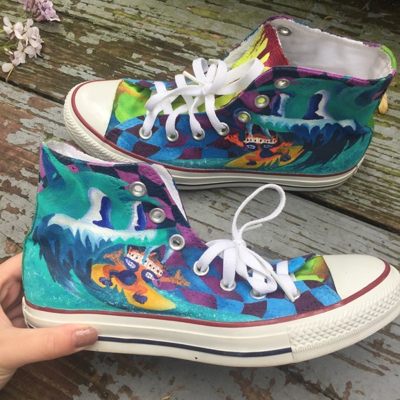 3e33dd4224b1d MGMT Hand Painted Converse